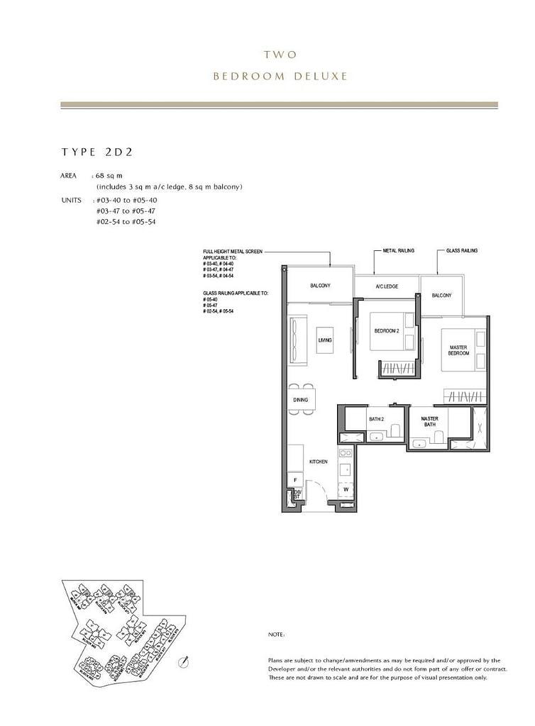 Parc Komo Parc Komo floorplan type 2D2