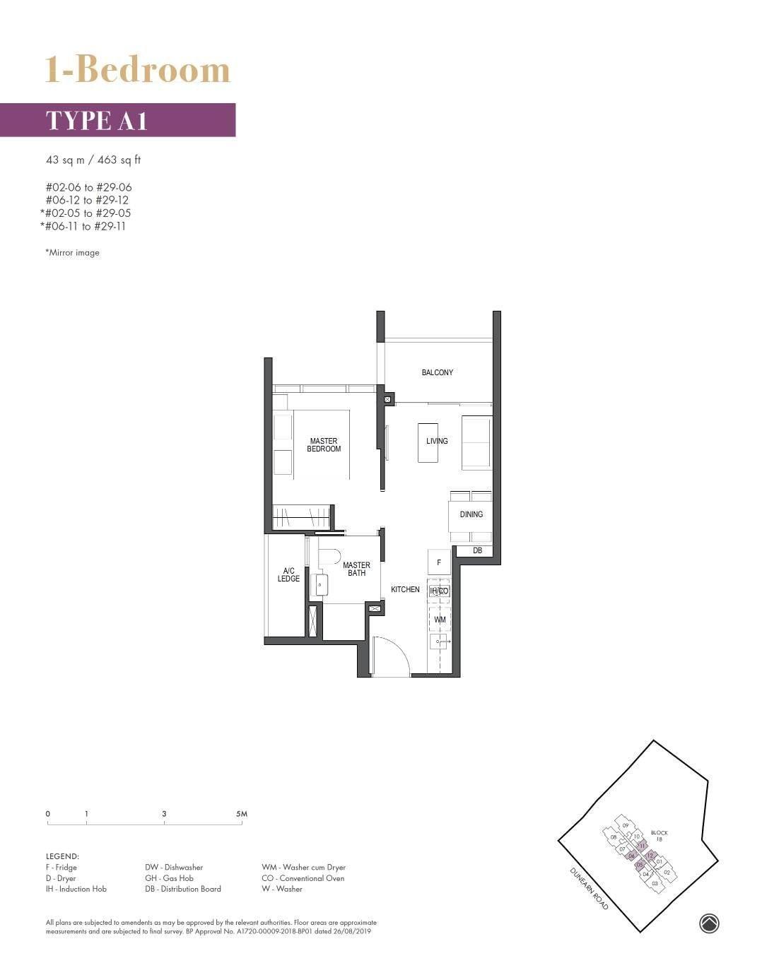 Pullman Residence Pullman Residence Floorplan A1