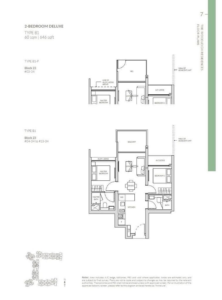 Woodleigh Residences Woodleigh Residences floorplan type B1
