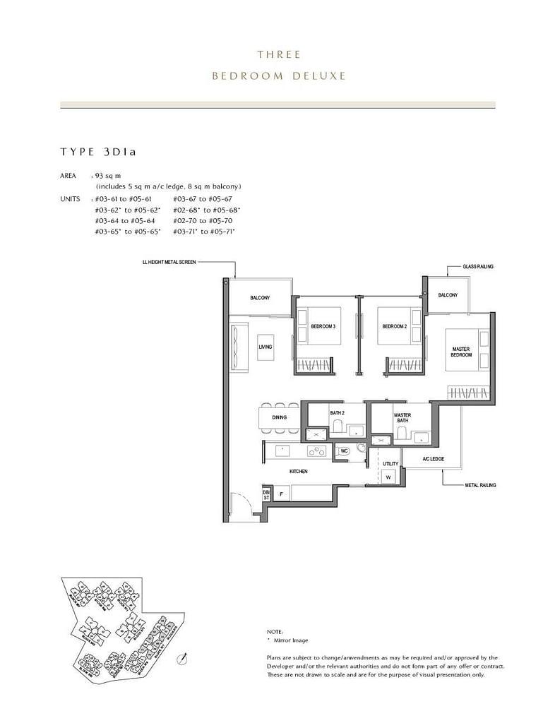 Parc Komo Parc Komo floorplan type 3D1a