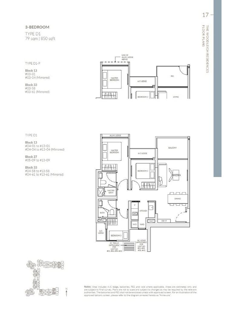 Woodleigh Residences Woodleigh Residences floorplan type D1 P