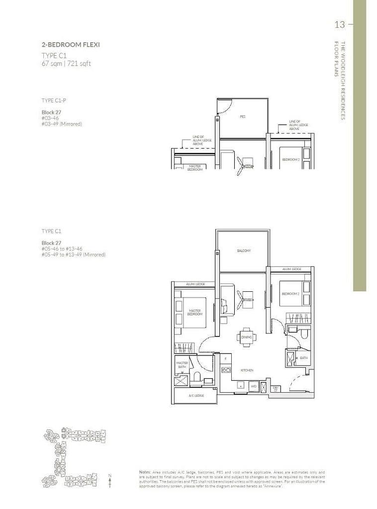 Woodleigh Residences Woodleigh Residences floorplan type C1