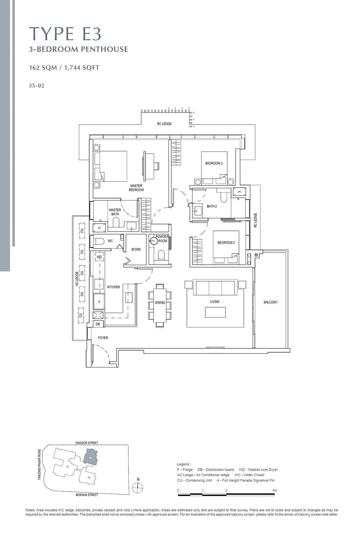 One Bernam One Bernam floorplan E3 scaled