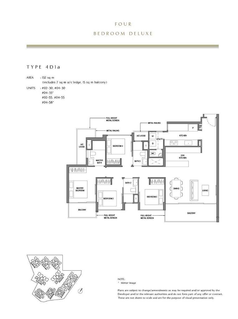 Parc Komo Parc Komo floorplan type 4D1a