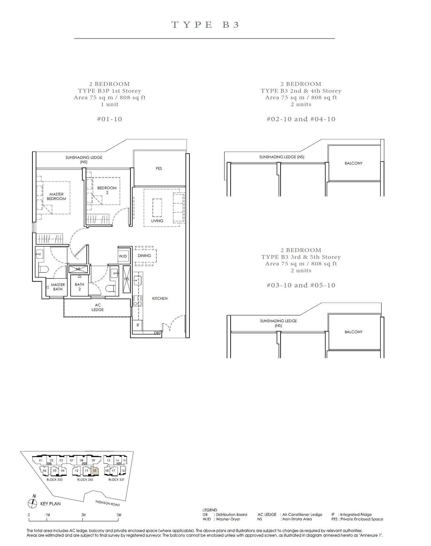 Peak Residence Peak Residence Floorplan B3P