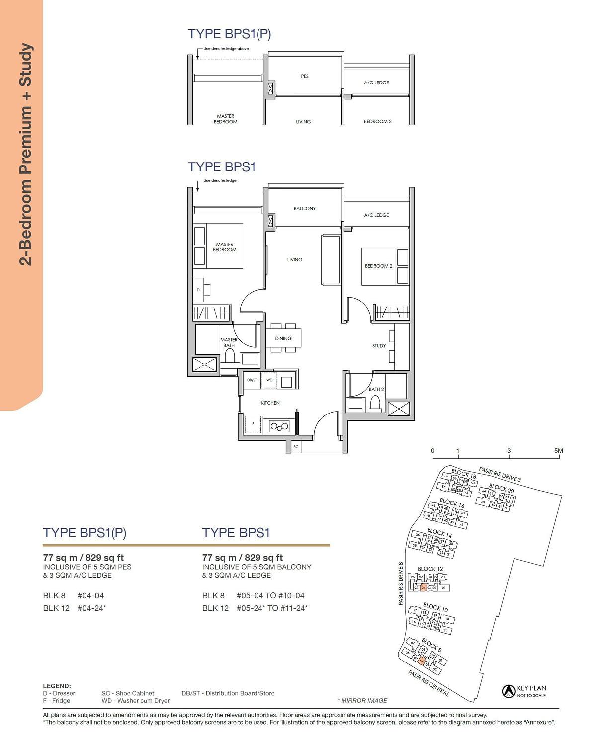 Pasir Ris 8 Pasir Ris 8 Floorplan BPS1P