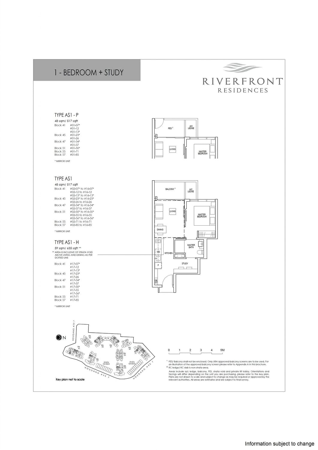 Riverfront Residences Riverfront Residences Floorplan AS1 P scaled