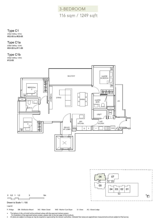 Sloane Residences Sloane Residences Floorplan C1b