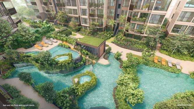 The Watergardens Watergardens Rain and Sun Pools with Jacuzzi Islands