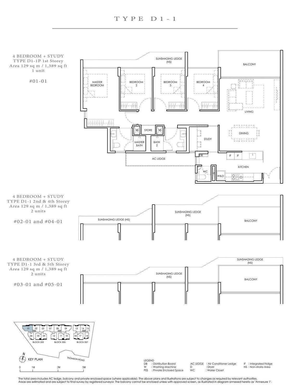 Peak Residence Peak Residence Floorplan D1 1P scaled