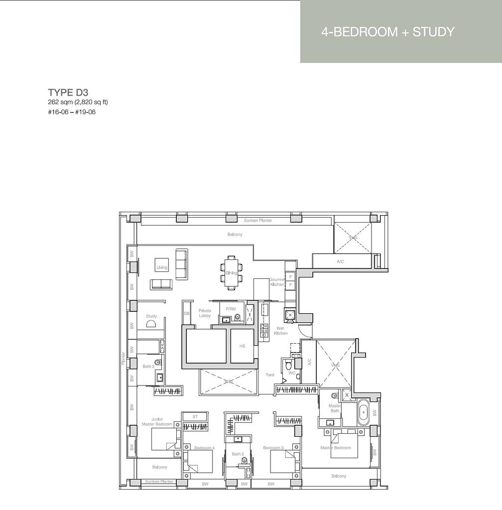 Nouvel 18 Nouvel 18 floorplan typeD3