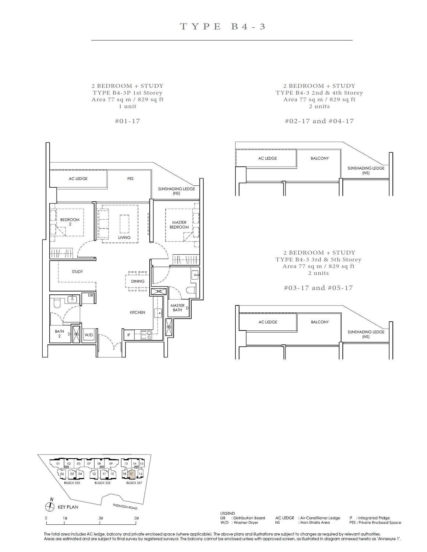 Peak Residence Peak Residence Floorplan B4 3P