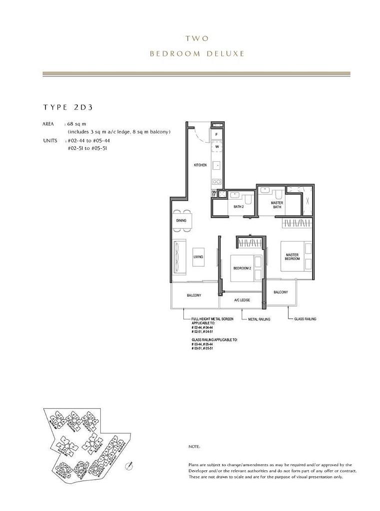 Parc Komo Parc Komo floorplan type 2D3