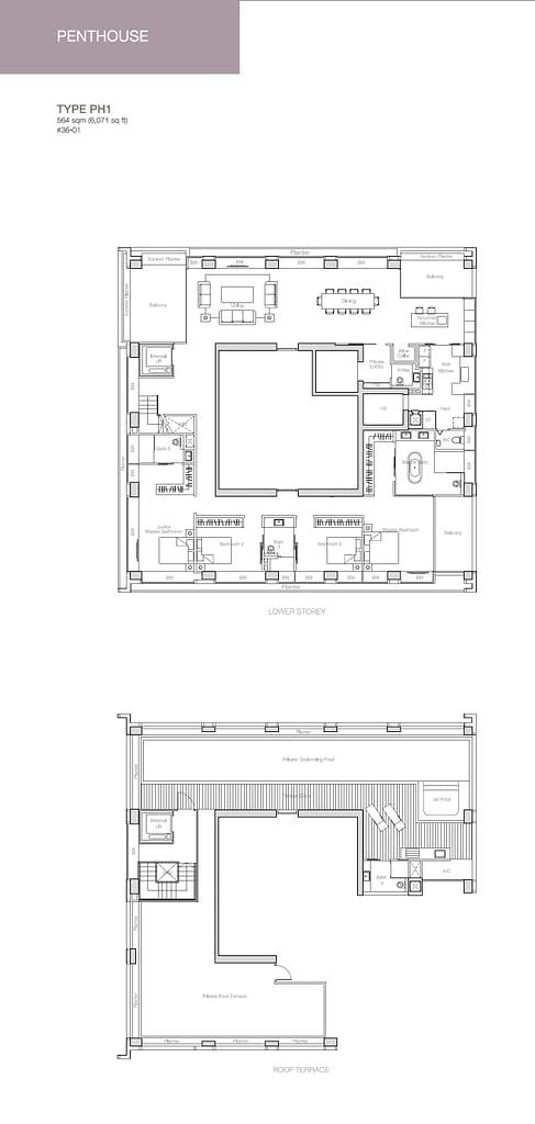 Nouvel 18 Nouvel 18 floorplan typePH1