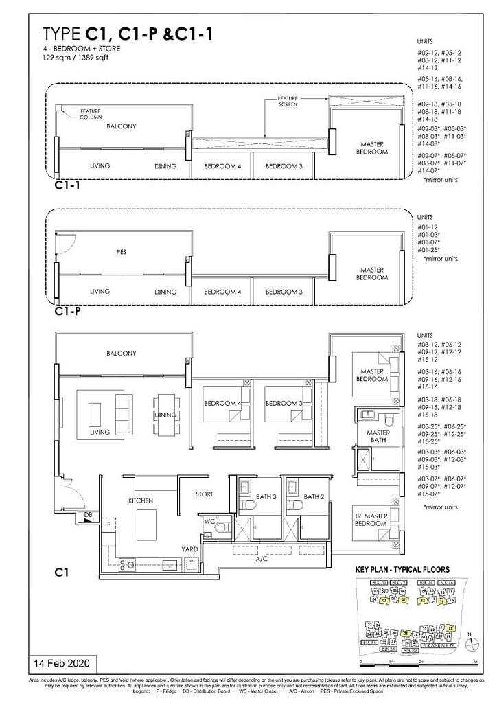 OLÁ OLA floorplan type C1 P