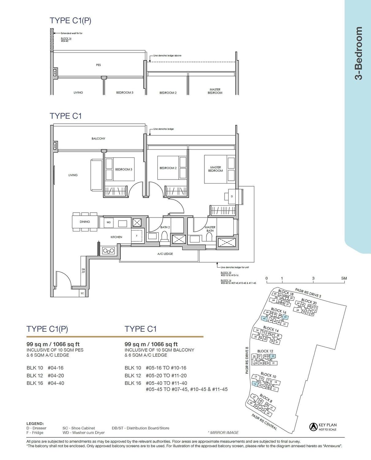Pasir Ris 8 Pasir Ris 8 Floorplan C1P