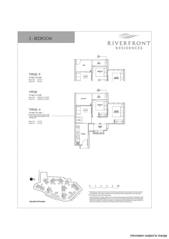 Riverfront Residences Riverfront Residences Floorplan B2 P scaled