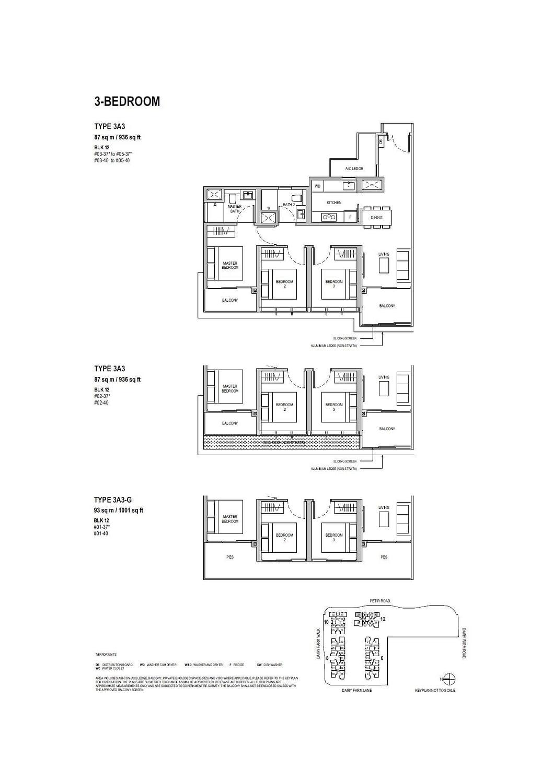 Dairy Farm Residences Dairy Farm Residences floorplan 3A3 G