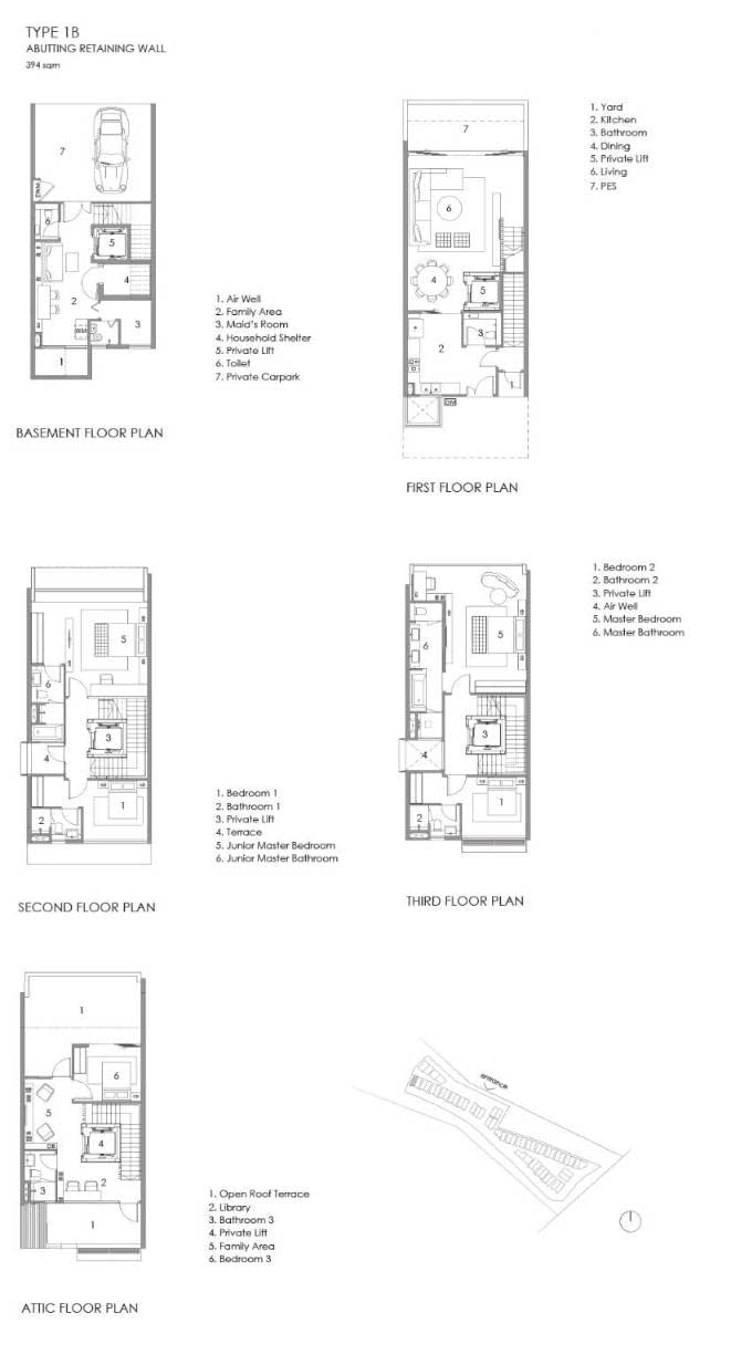 Parkwood Collection Parkwood Collection Floorplan 1B Abutting Retaining Wall