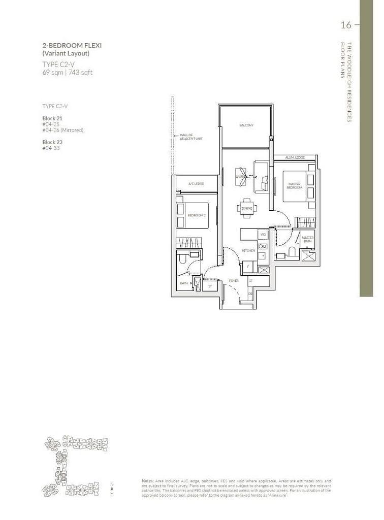 Woodleigh Residences Woodleigh Residences floorplan type C2 V
