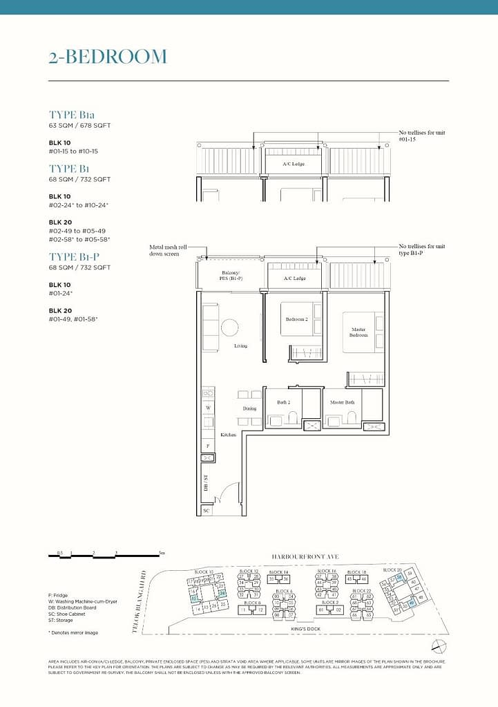 The Reef at King's Dock The Reef floorplan type B1a
