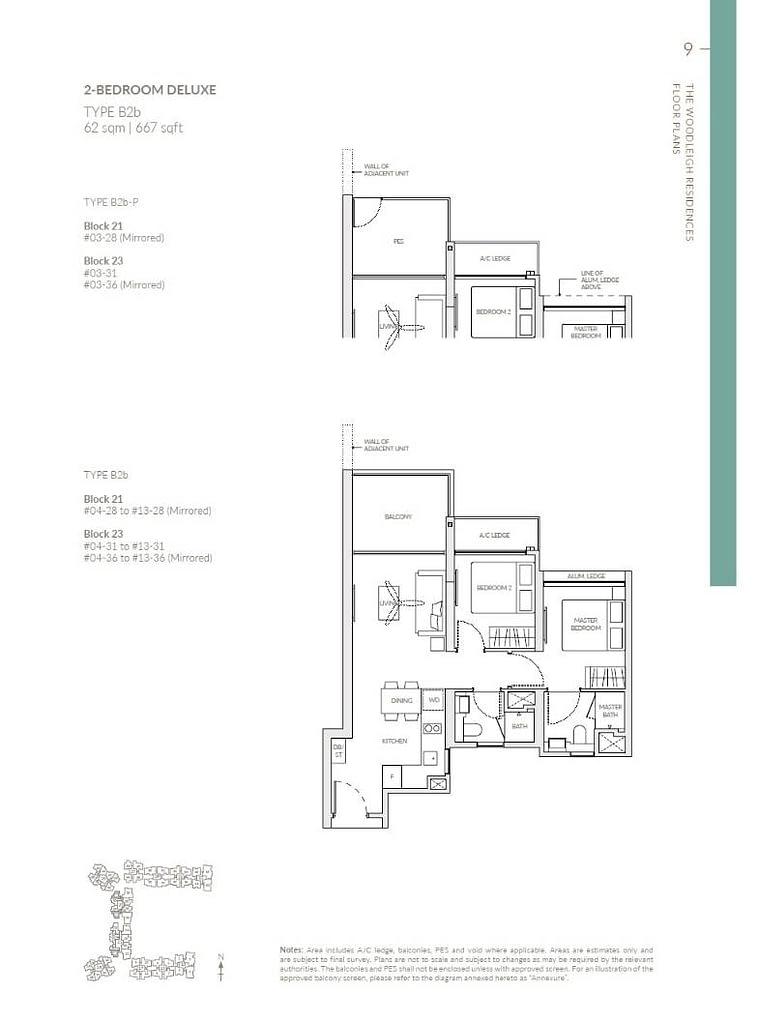 Woodleigh Residences Woodleigh Residences floorplan type B2b