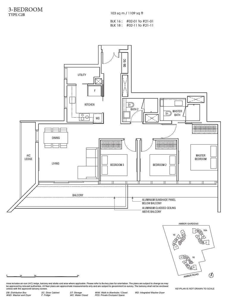 Amber Park Amber Park floorplan layout C2B