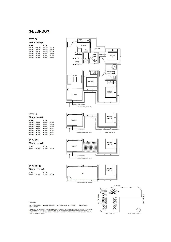 Dairy Farm Residences Dairy Farm Residences floorplan 3A1