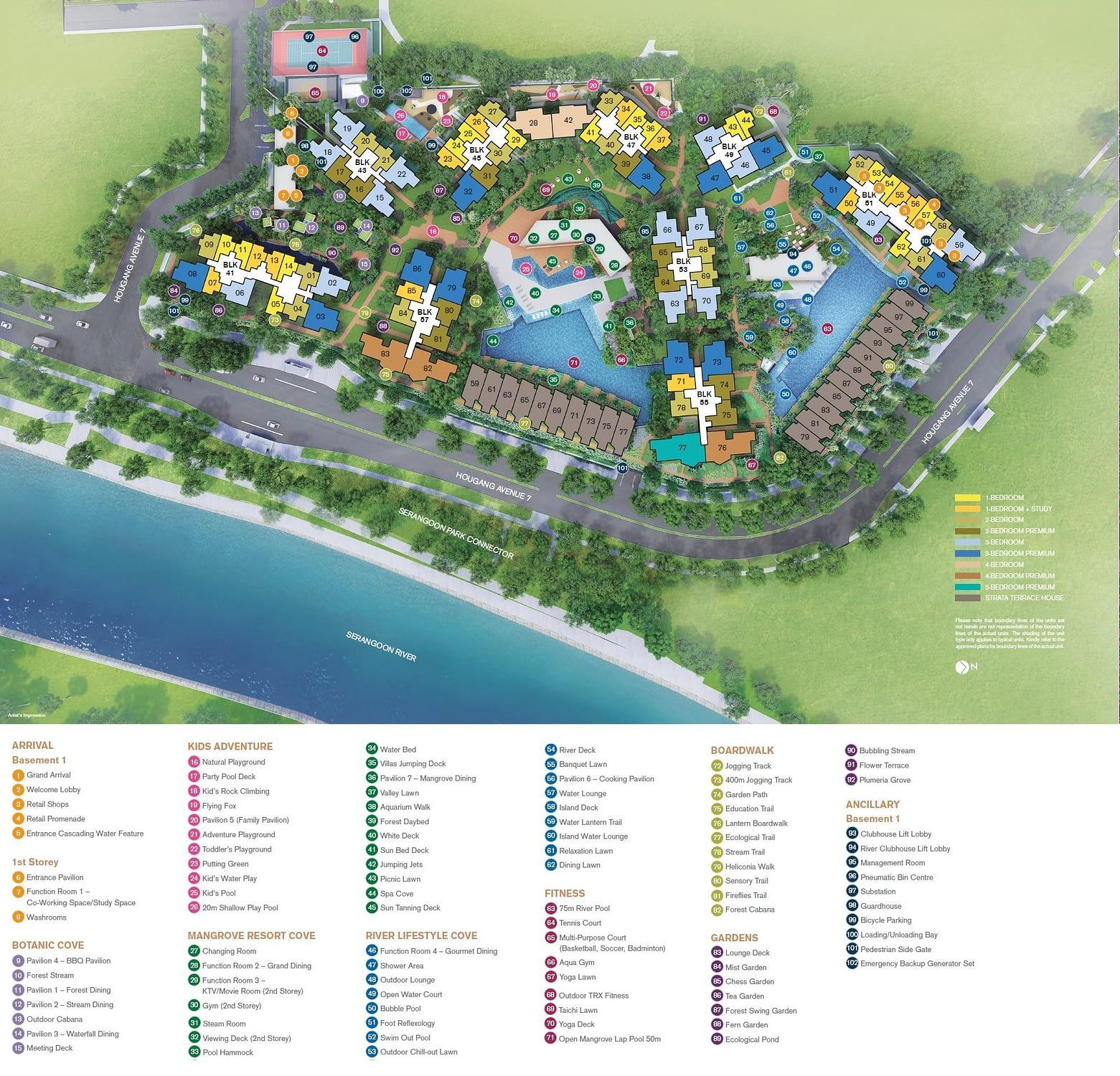 Riverfront Residences Riverfront Residences Siteplan