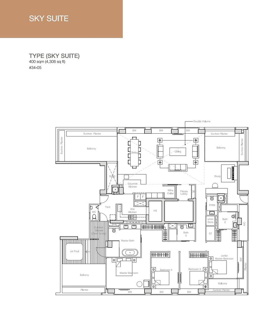 Nouvel 18 Nouvel 18 floorplan typeSKY SUITE